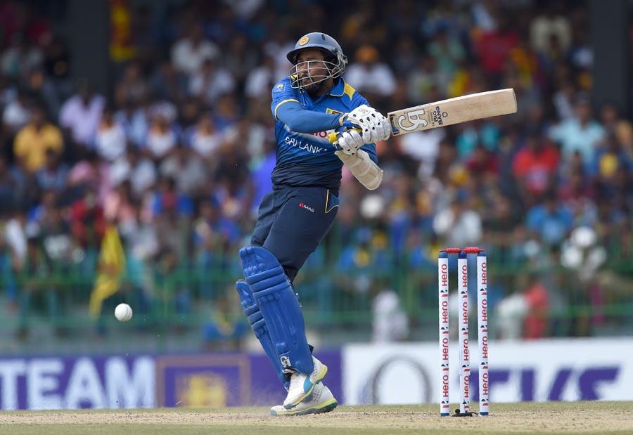 Sri Lanka cricketer Tillakaratne Dilshan plays a shot during the first One Day International (ODI) cricket match between Sri Lanka and Australia at the R Premadasa International Cricket Stadium in Colombo on August 21, 2016. / AFP / ISHARA S.KODIKARA        (Photo credit should read ISHARA S.KODIKARA/AFP/Getty Images)